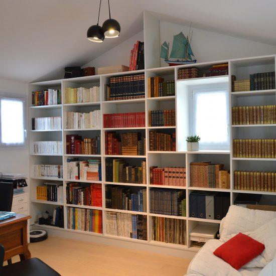 bibliotheque sur mesure cuisines viaud. Black Bedroom Furniture Sets. Home Design Ideas