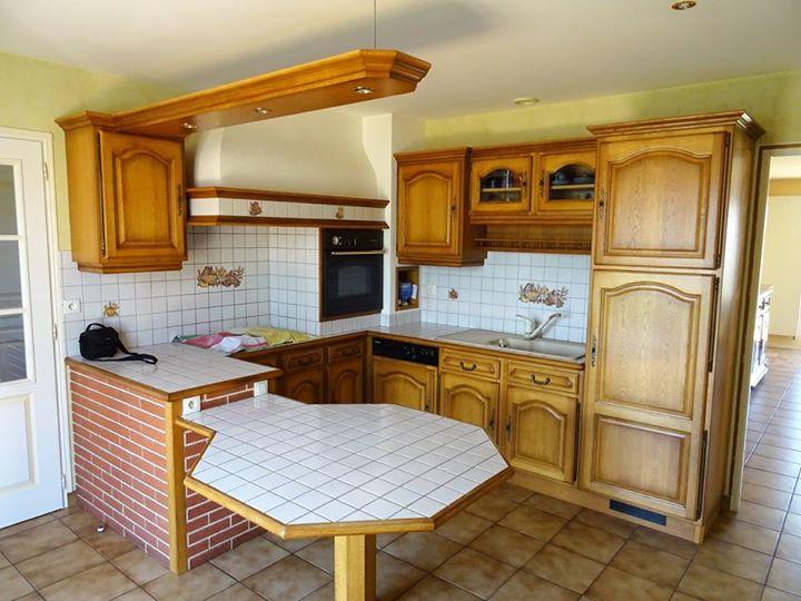 Voici la r alisation fraichement termin e d 39 une tr s belle cuisine landevieill cuisines viaud - Tres belle cuisine equipee ...