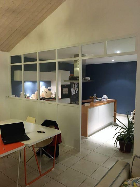 voici la r alisation d 39 une verri re sur mesure saint gilles croix de vie h tr cuisines viaud. Black Bedroom Furniture Sets. Home Design Ideas