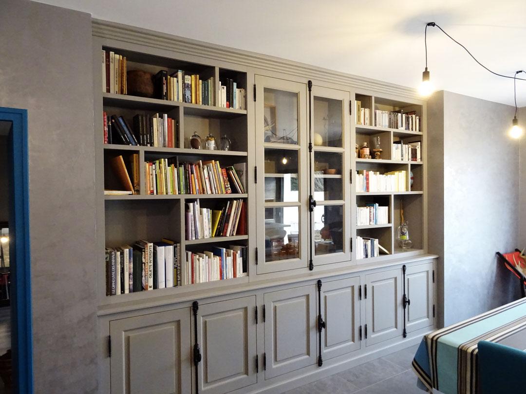 a25345c828995 Création d une bibliothèque sur-mesure aux Sables d Olonne en bois ...
