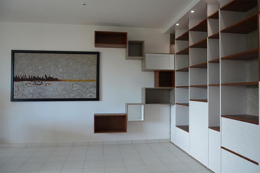 Agencement interieur architecte interieur etagere bibliotheque sur mesure Realisation G Viaud Fenouiller5