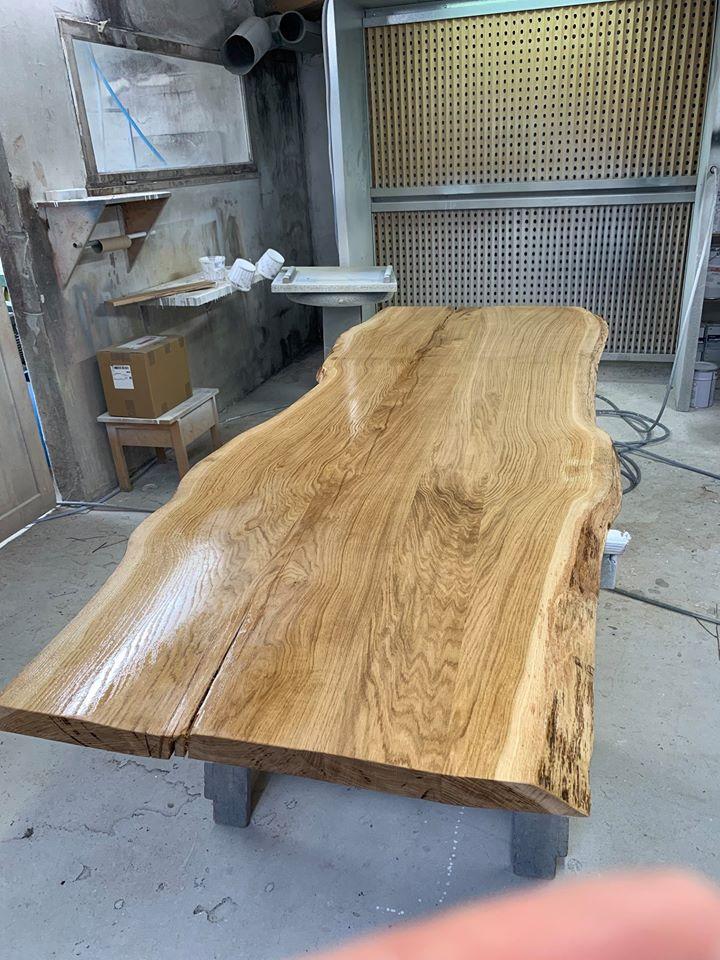Fabrication Table en chene massif sur mesure Vendee Artisan G Viaud1