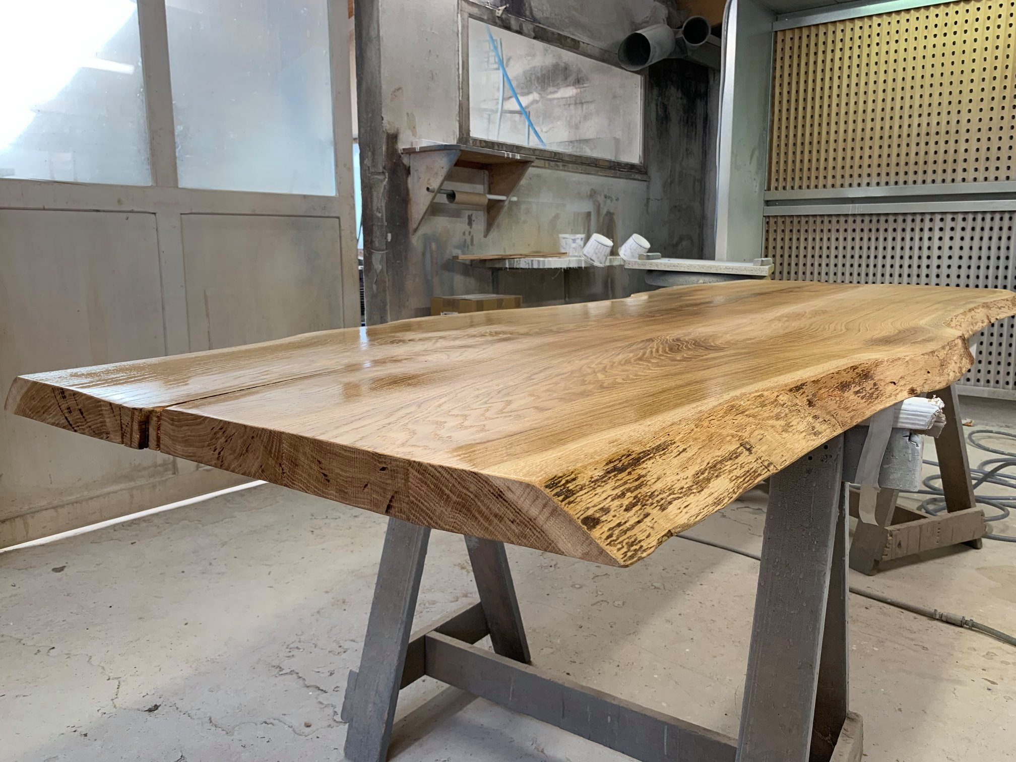 Fabrication Table en chene massif sur mesure Vendee Artisan G Viaud4