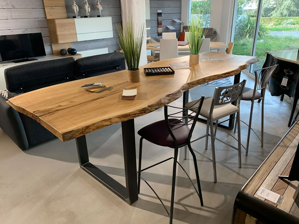Fabrication Table en chene massif sur mesure Vendee Artisan G Viaud6
