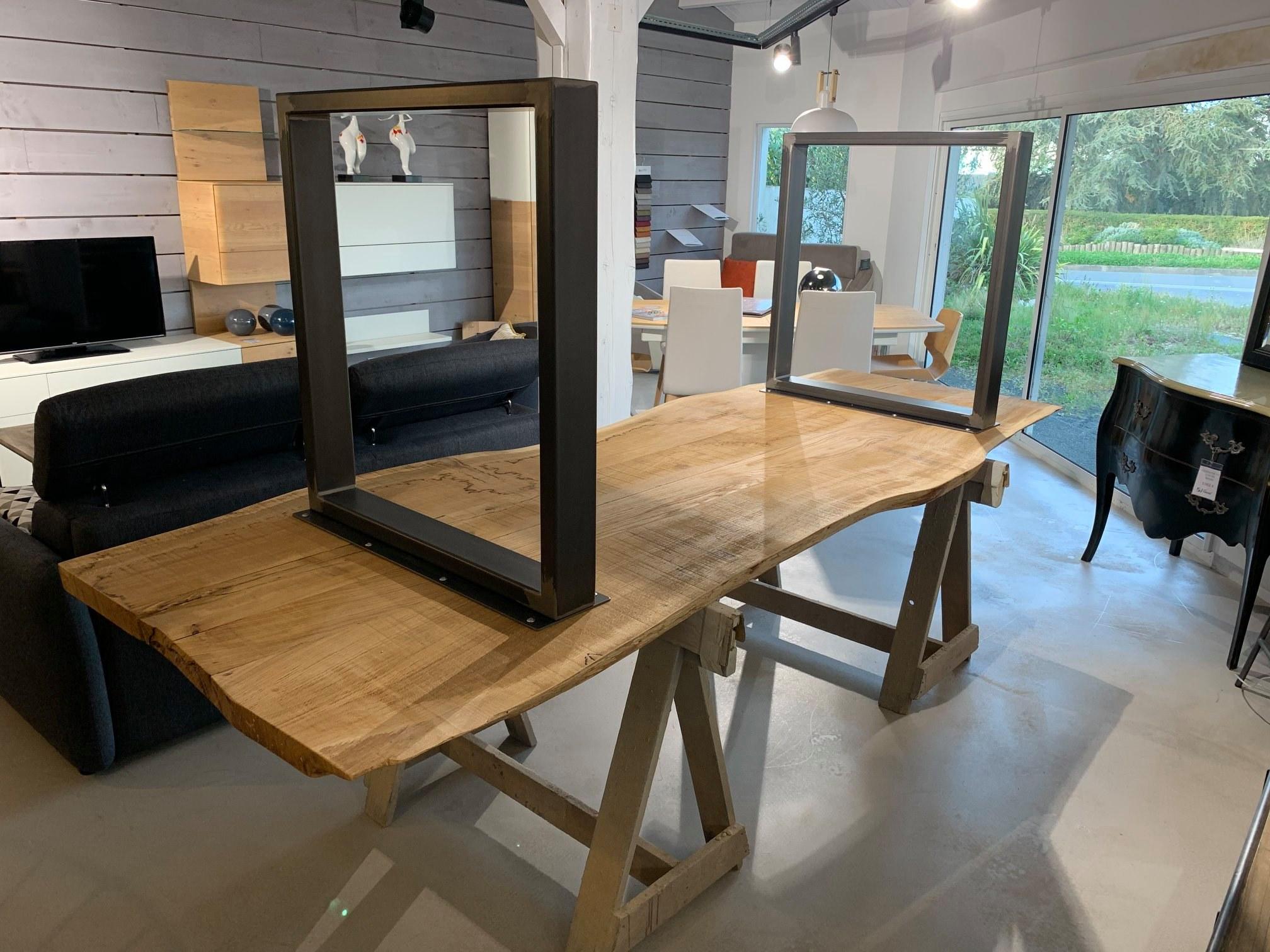 Fabrication Table en chene massif sur mesure Vendee Artisan G Viaud8